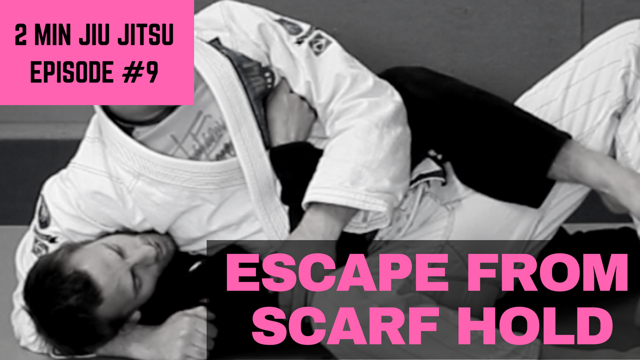 2 Minute Jiu Jitsu Ep 9: Scarf Hold Escape to Back
