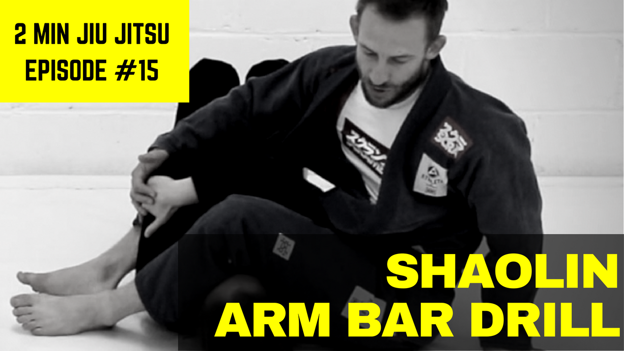 Episode 15 of 2 Minute Jiu Jitsu covers the Shaolin Arm Bar Drill