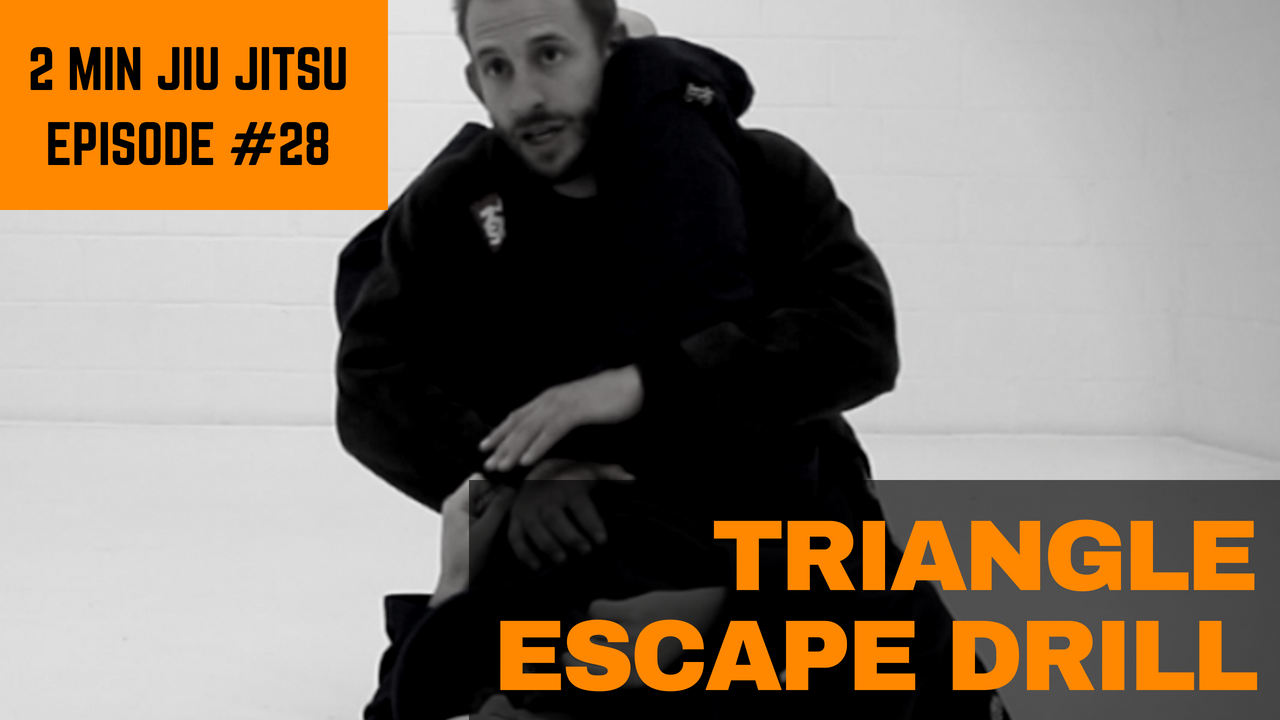 2 Minute Jiu Jitsu Ep 28: Triangle Escape Drill
