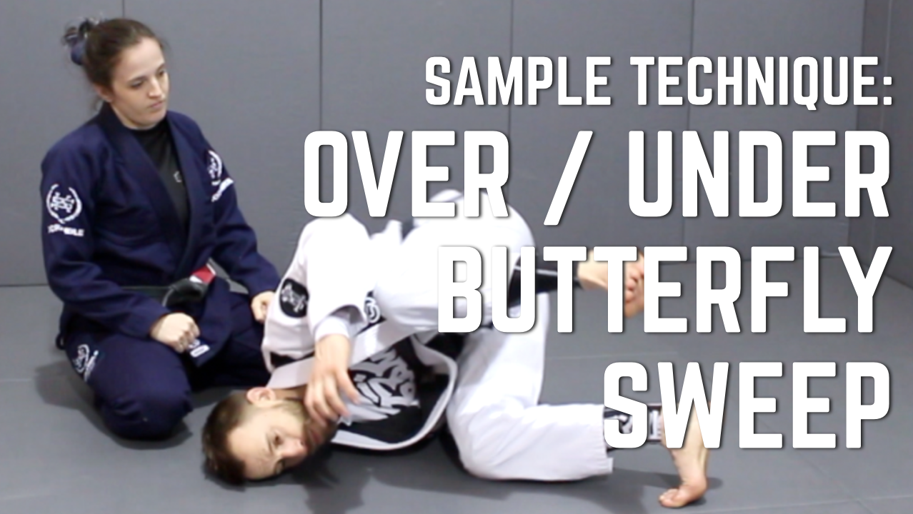 Beginner's BJJ Curriculum Sample: Over/Under Butterfly Sweep